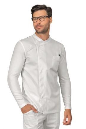 Casacca Uomo tessuto Jersey elasticizzato, fresco e traspirante a manica lunga bianco - cod. RE059110