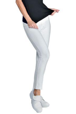 Legging lungo donna 97% cotone - 3% spandex colore bianco cod. RE024610