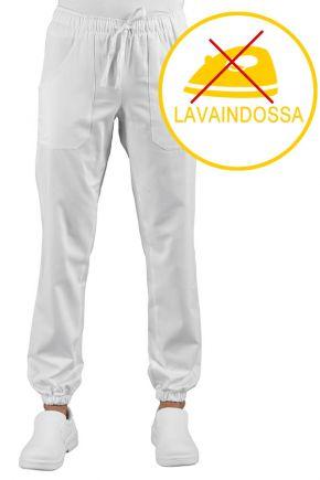 Pantalone Unisex Pantagiaffa 100% polyester stretch traspirante polsino al fondo colore bianco cod. RE044870