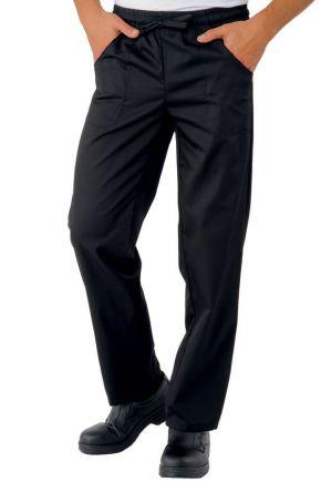 Pantalone Unisex con elastico e coulisse 65% polyester - 35% cotone colore nero cod. RE044601