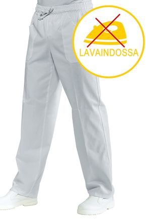 Pantalone Unisex con elastico 100% polyester traspirante stretch colore bianco cod. RE044070