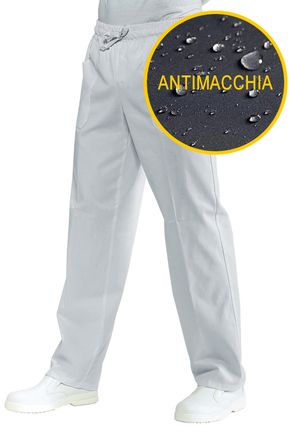 Pantalone con elastico Unisex Antimacchia 100% polyester Super Dry colore bianco cod. RE044300
