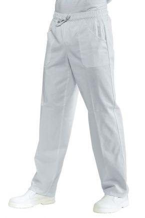 Pantalone Unisex con elastico e coulisse 2 tasche 100% cotone colore bianco cod. RE044000
