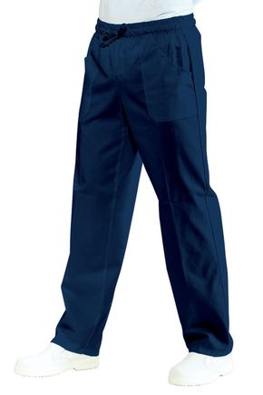 Pantalone Unisex con elastico 100% cotone colore blu cod. RE044402
