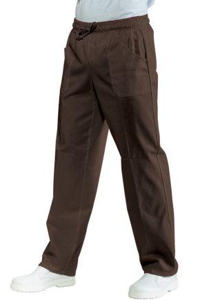 Pantalone Unisex con elastico 65% polyester - 35% cotone colore cacao cod. RE044717