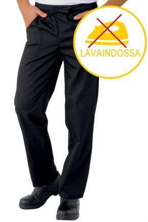 Pantalone Unisex con elastico 100% polyester traspirante stretch colore nero cod. RE044071