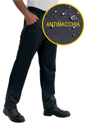 Pantalone con elastico Unisex Antimacchia 100% Polyester Super Dry colore nero cod. RE044301