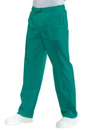 Pantalone UNISEX con elastico verde chirurgia 100% cotone