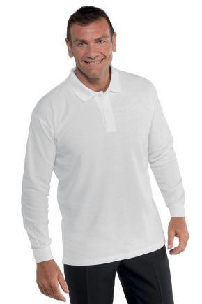 Polo unisex a manica lunga 100% cotone colore bianco cod. - RE126000