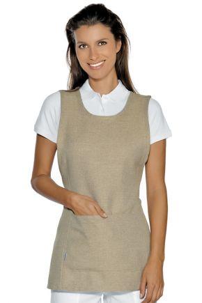 Grembiule lavoro con tasca frontale 100% polyestere taglia unica colore Natural - cod. RE013216