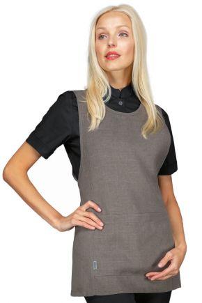 Grembiule lavoro con tasca frontale 100% polyestere taglia unica colore smoke - cod. RE013221
