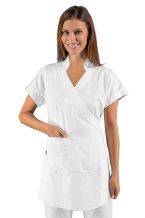 Kimono con tasca frontale 65% polyestere + 35% cotone colore Bianco - Cod. RE004500