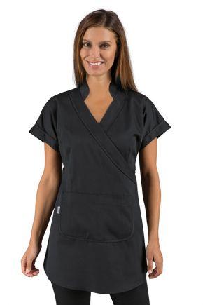 Kimono con tasca frontale 100% polyestere SuperDry tessuto traspirante e antimacchia colore Nero - Cod. RE004581