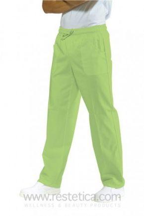 Pantalone UNISEX con elastico mela misto
