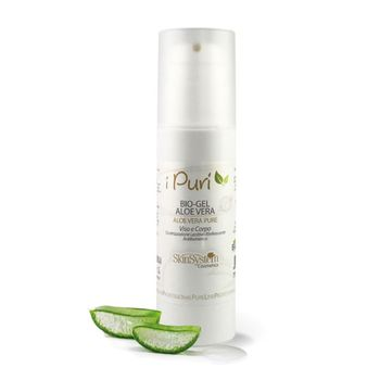 Bio Gel puro all'Aloe Vera biologica Skin System 100% Naturale - flacone 150 ml