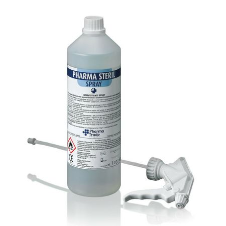 Pharmasteril Spray disinfettante rapido per dispositivi medici indicato per virus HIV,HBV,HCV Pharma Trade - Flacone da 1000 ml