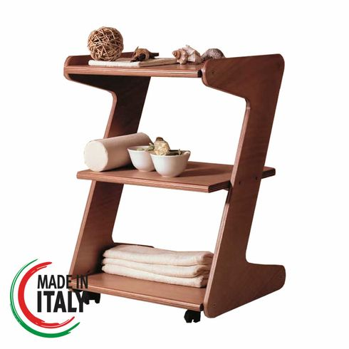 WOOD CART - with 3 shelves