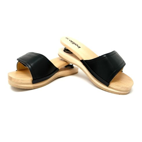 Baldo Clogs with Velcro - Black
