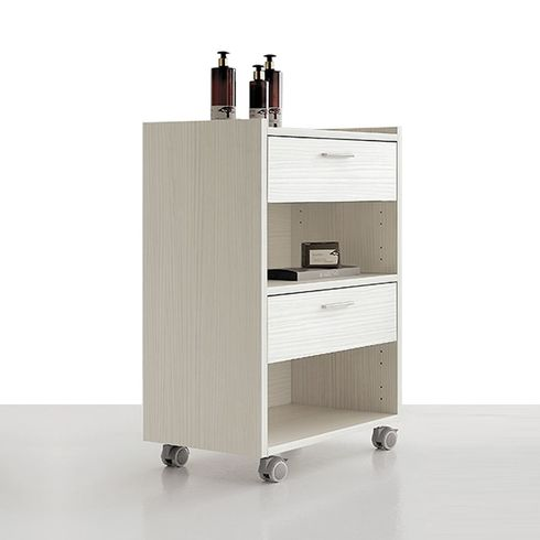 Wooden cart with 3 drawers