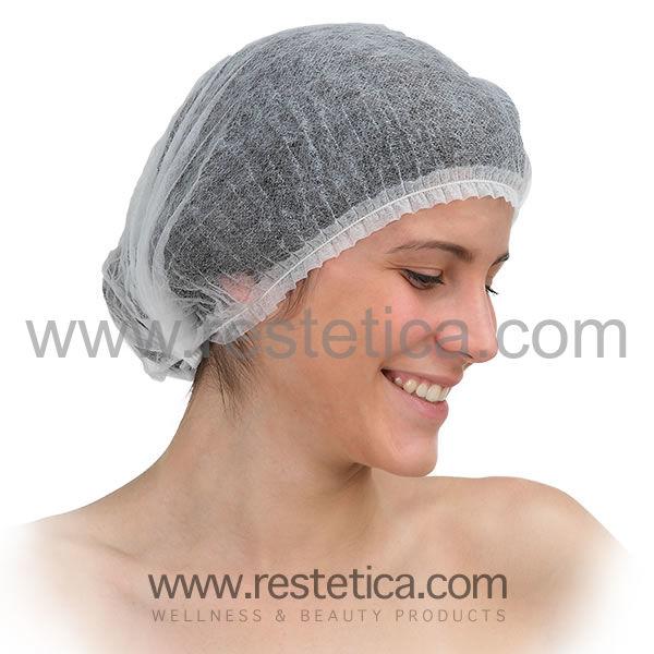 Cuffia monouso per capelli in tessuto non tessuto confezione da 100 pezzi -  Taglia unica c215dee4f901