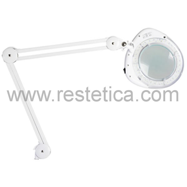 Lampada con lente di ingrandimento professionale a 3 diottrie dotata di luce LED
