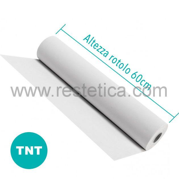 Lenzuolino medico resistente in TNT altezza 60cm per 100m di lunghezza - 1 rotolo imbustato singolarmente