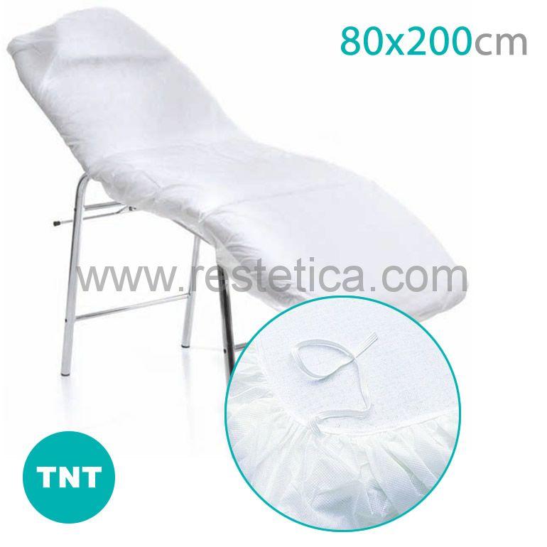 Lenzuolino coprilettino in TNT misura 80x200cm con bordo elastico - confezione 10 lenzuolini