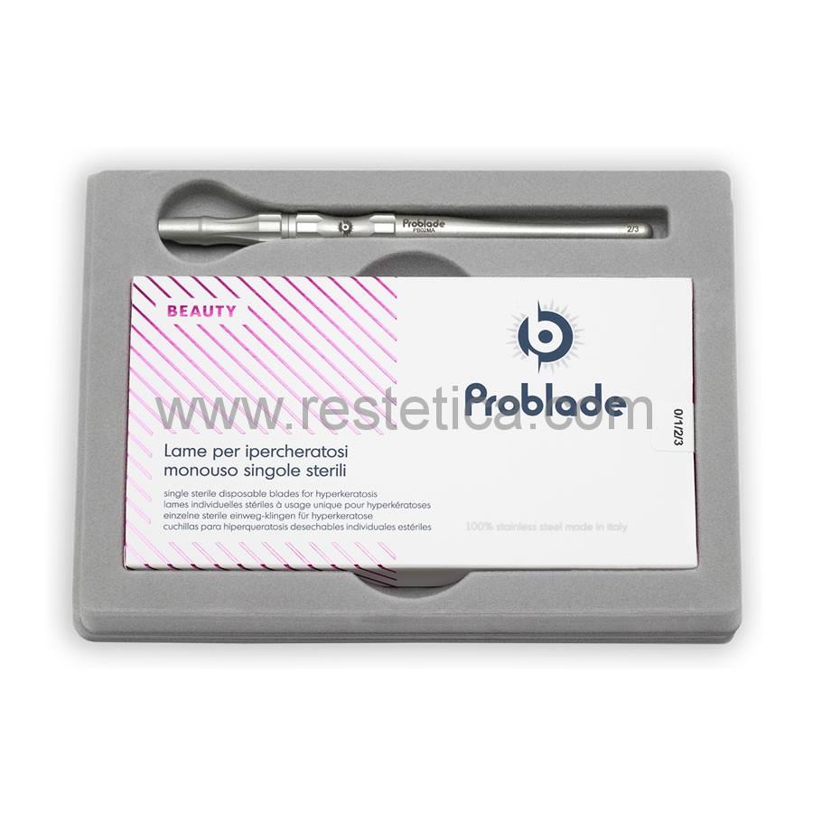 Kit Problade composto da manico porta lame e una confezione da 40 lame misure miste ( 1,3mm - 2,65mm - 3,1mm - 8,5mm )