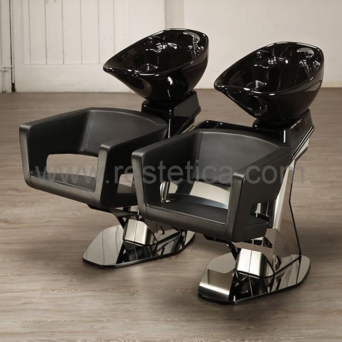 Lavatesta per parrucchiere con seduta sospesa
