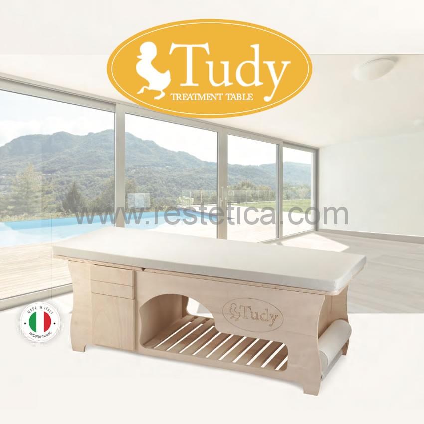 Lettino TUDY massimo confort per il cliente ideale per estetiste e terapisti come postazione di lavoro - 100% made in Italy
