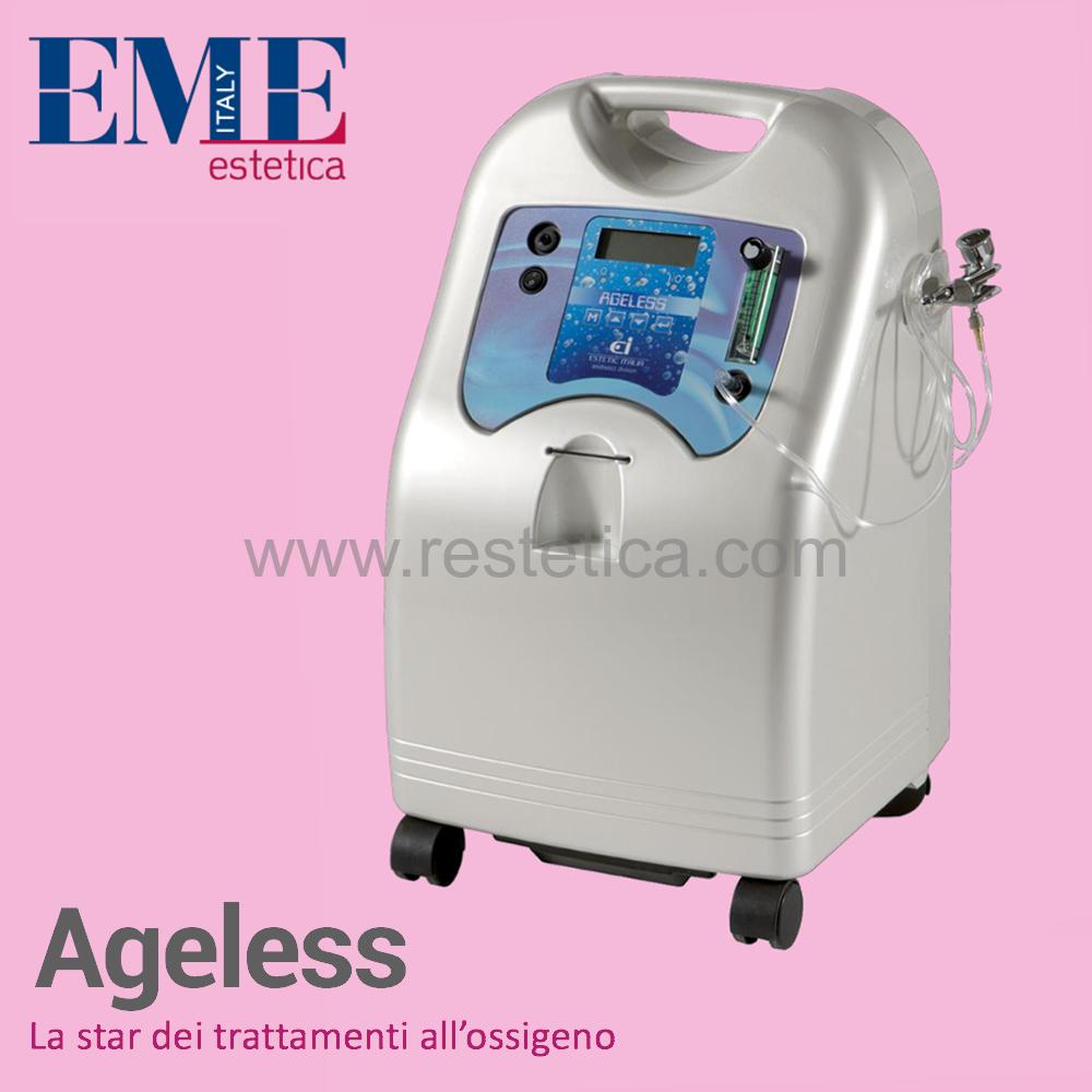 Profusore d'ossigeno AGELESS EME Estetica portatile per trattamenti di Ossigeno Terapia completo di aeropenna che emette ossigeno puro fino al 93%