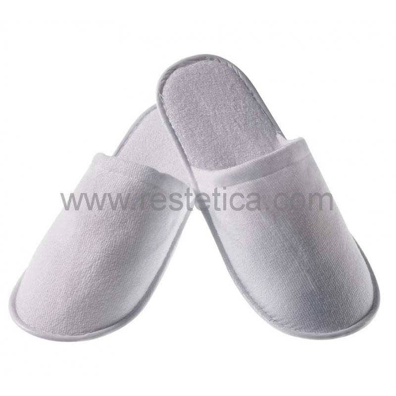 Pantofola in spugna con suola antiscivolo da 5mm imbustata singolarmente taglia unica - confezione 10 paia