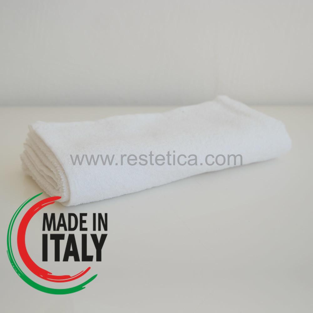 Asciugamano ideale per Taglio e Colore capelli bianco misura 50x100cm - Made in Italy