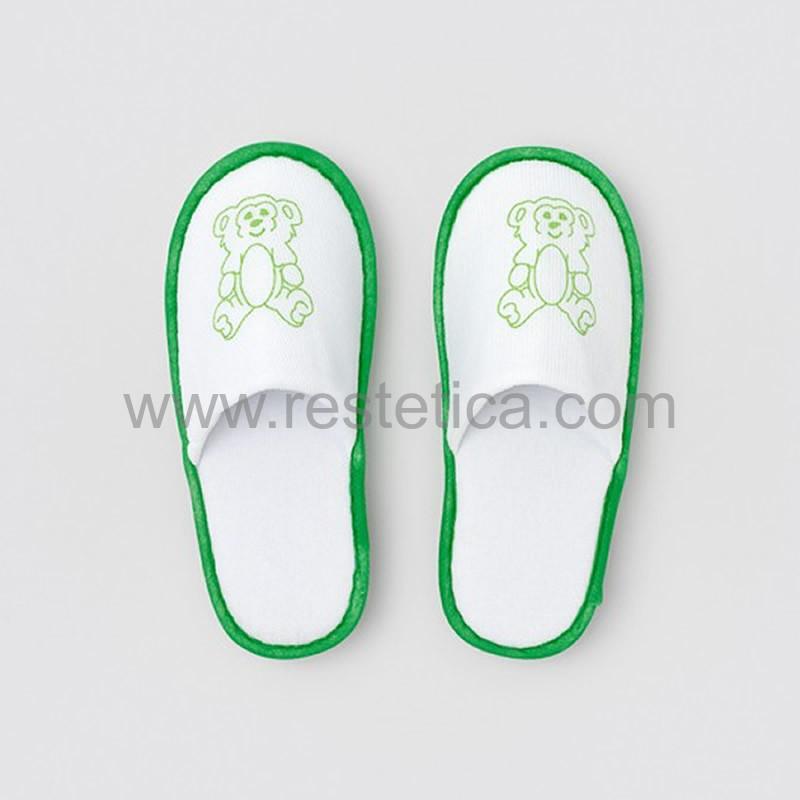 Pantofola ORSO per bimbi in morbida spugna ideale adatta alle zone con moquette - confezione 300 paia