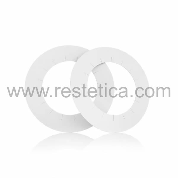 Cerchi salvabordo - salvacera epilazione monouso in cartone, massima igiene - Confezione 100 cerchietti