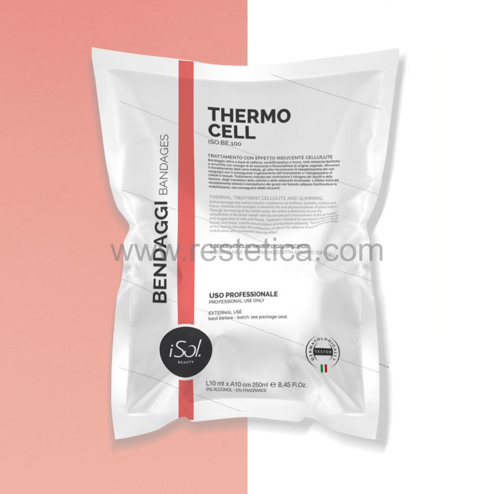 Bende imbevute iSol Thermo Cell con con caffeina, centella asiatica e fucus Box contenente 6 buste ISO.BE.100