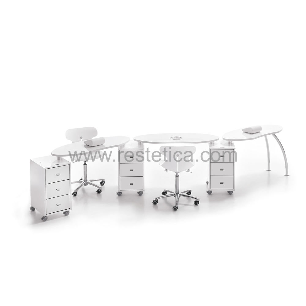 Manicure workstation complete with aspirator, cushion, two Easy Confort chairs and professional cutter cod. REV0070