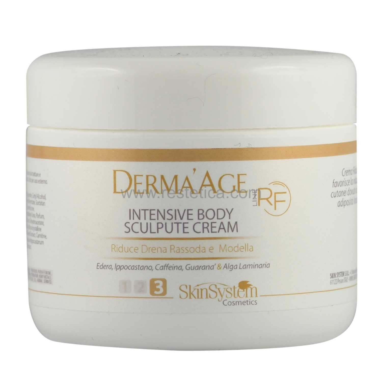 Derma'Age macchinario RF Int.Body Sculpture Cream  SkinSystem 1010020120 - Vaso 250 ml
