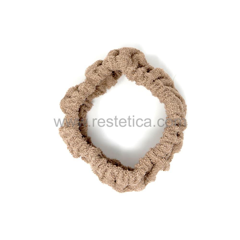Fascia elastica per capelli in spugna linea CONFORT colore fango IDH filato in cotone 100% Made in Italy