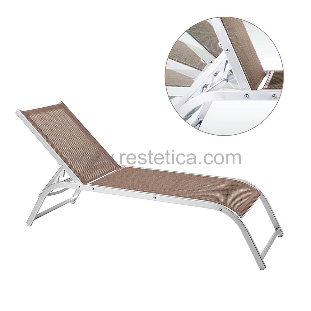 Long chair for swimming pool area