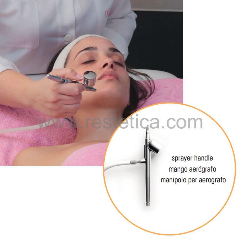 Macchinario per trattamenti di ossigenoterapia per mani viso collo decolleté - Concentrazione ossigeno 98% portata 3litri/minuto