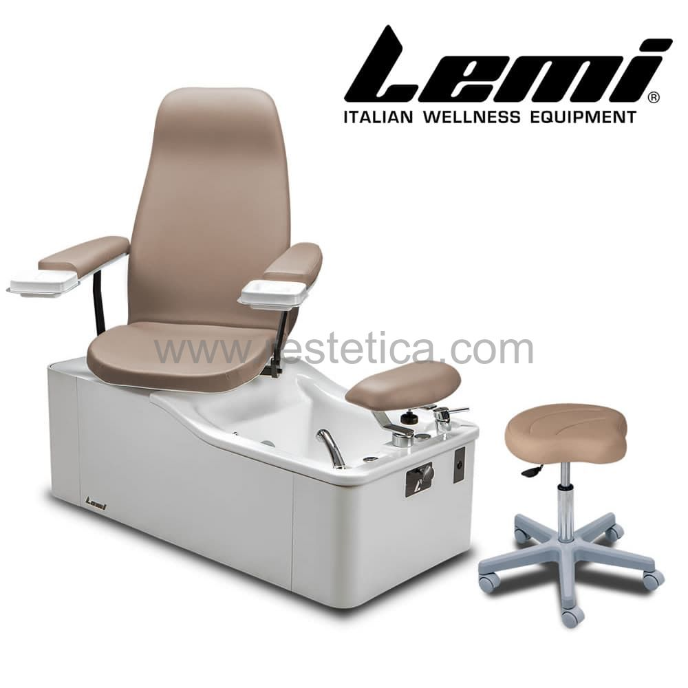 Poltrona multifunzionale LEMI SPA ideale per trattamenti pedicure manicure e viso dotata di Hydromassage Pipeless