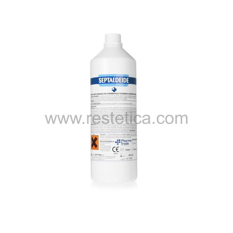 Sterilizzante pronto all'uso Septaldeide tensioattivata all'essenza di limone attivo nei confronti di spore e virus
