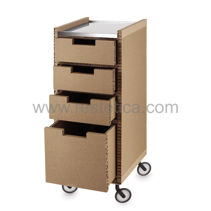 Professional trolley with five drawers