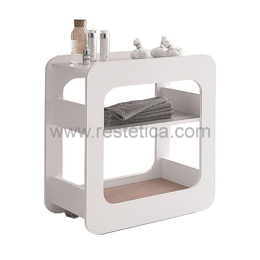 Carrello di servizio Vismara Creo con ripiani disponibili in 3 diverse finiture - dimensioni B46xP60xH74 Cm