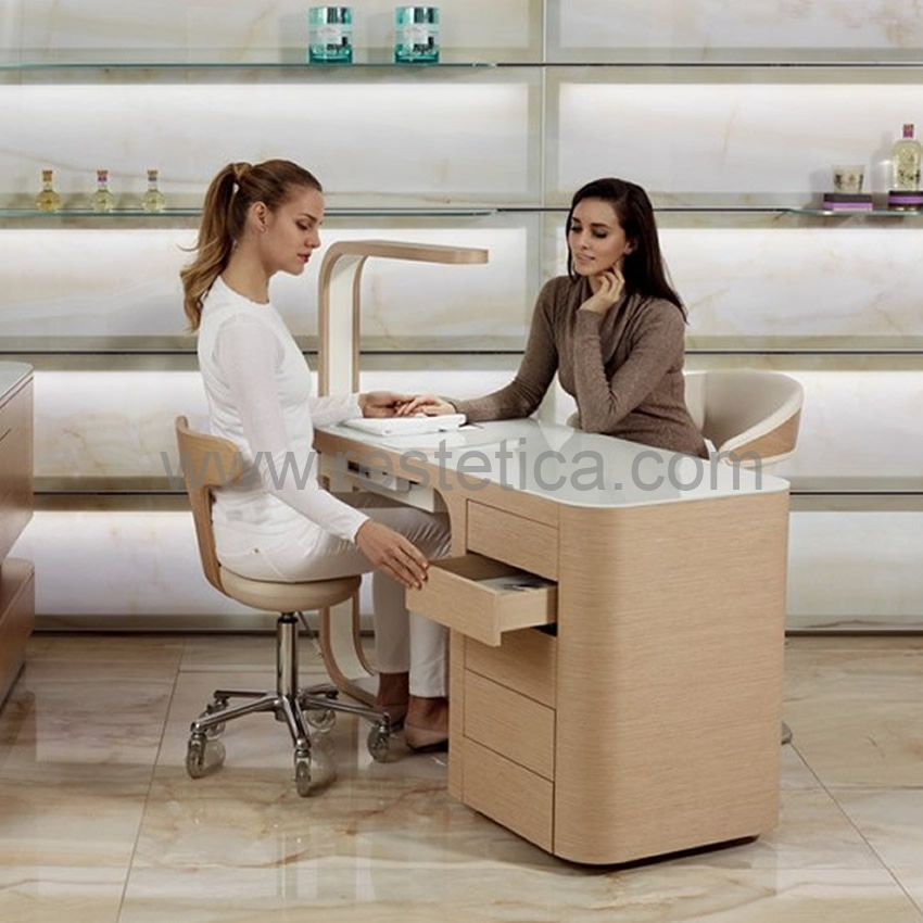 Manicure table Hibiscus Nails by Nilo SPA Design equipped with side drawers cod. N83801