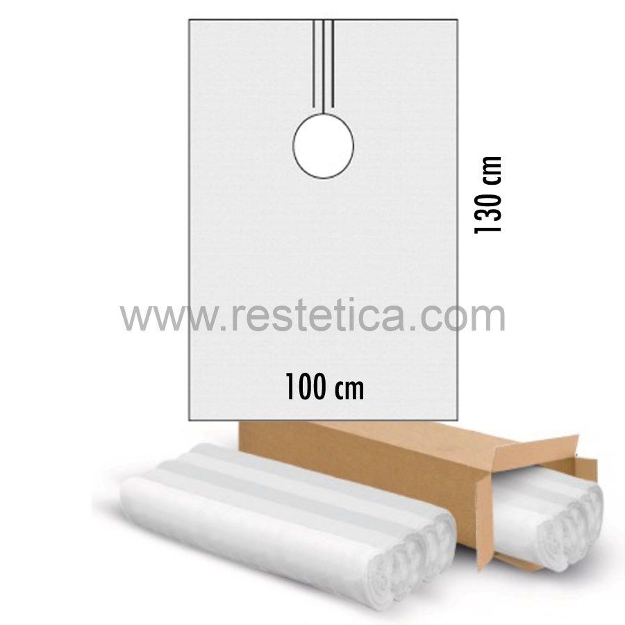 Mantella italiana in TNT bianca 30gr misure 70x120 cm - confezione da 10 pezzi
