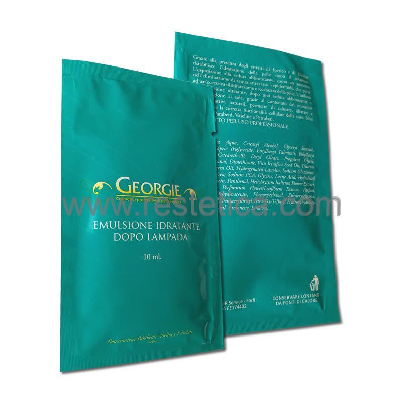 Emulsione IDRATANTE post-lampada per solarium - Confezione 100 bustine monodose da 10ml