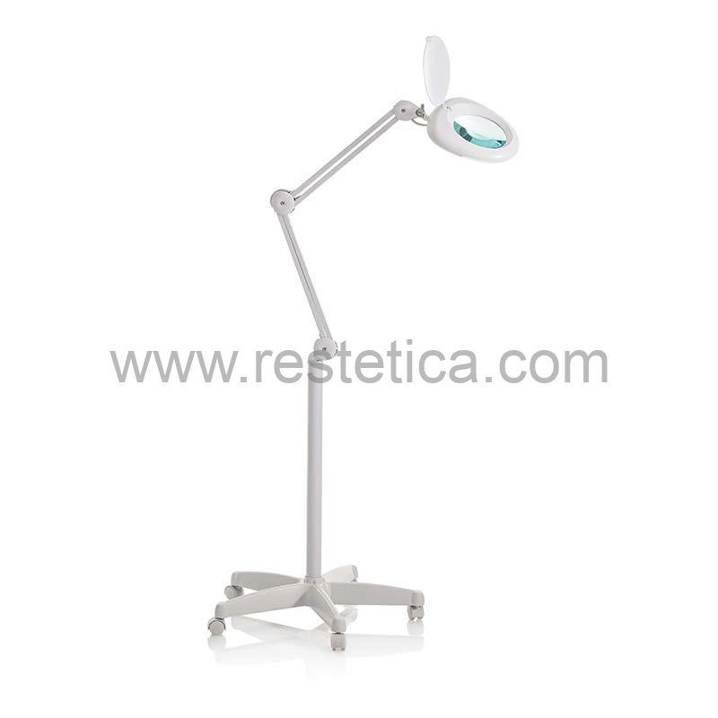 Lampada led con lente 5 diottrie per postazione pedicure