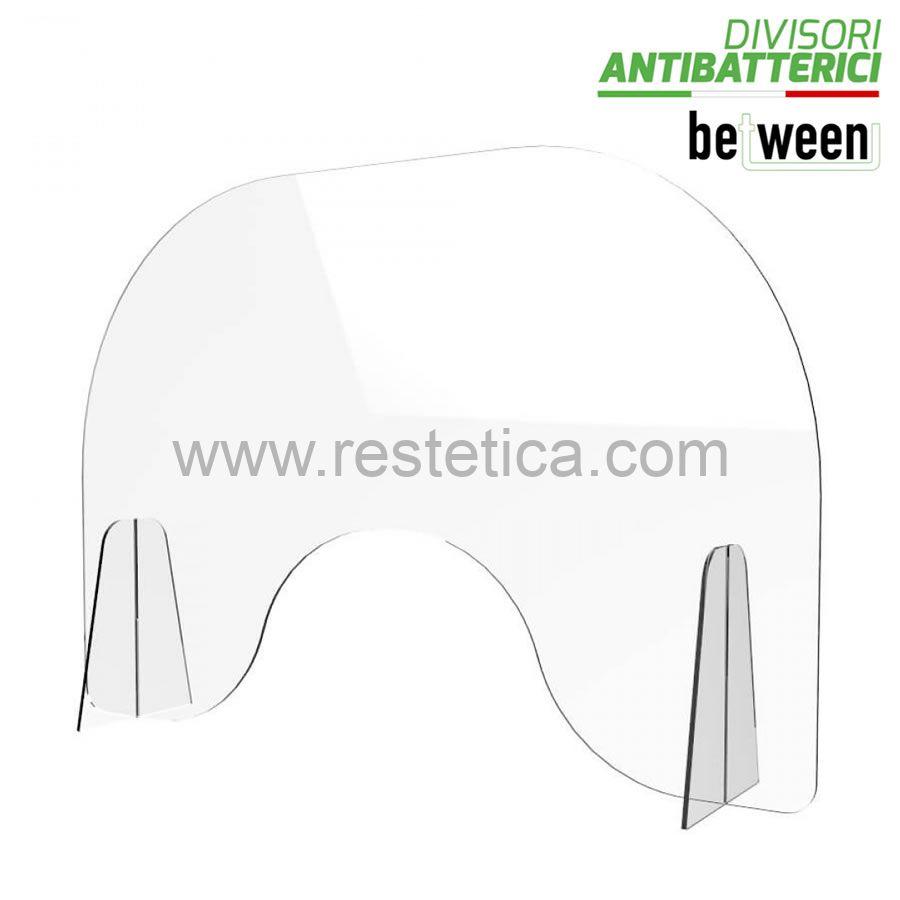 """Pannello divisorio parafiato """"BETWEEN manicure"""" ideale come Barriera protettiva tavoli e consolle manicure - dimensioni 95xH65 cm"""